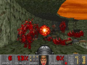 Despite the now cringe-worthy graphics, Doom took gore to whole new level at the time.